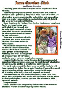 May 2014 Garden Club