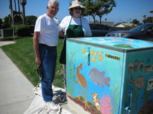 UCCA Transformer Artists Gail and Chuck Conners at the aquarium they designed 002
