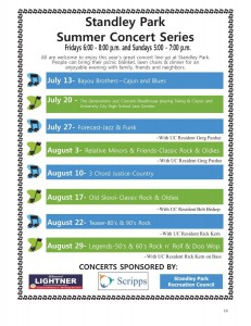 Summer Concerts 2014