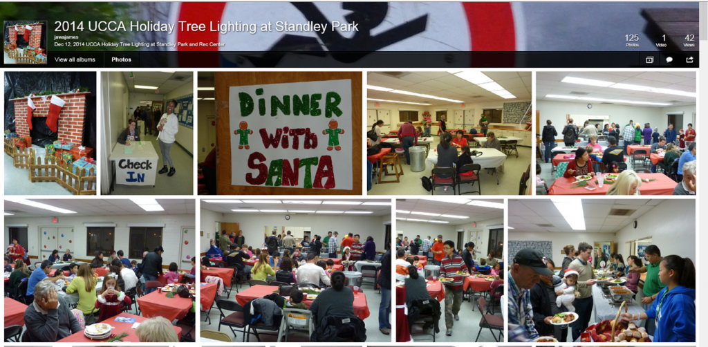 Holiday Tree Lighting and Dinner with Santa 2014