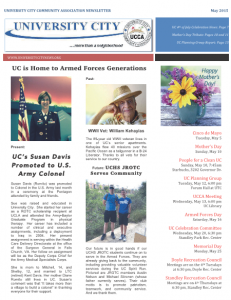 May 2015 Newsletter Cover