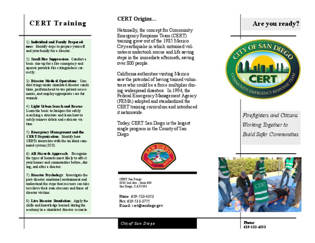 thumbnail of CERT Flyer Publication v6