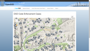 DSD Code Enforcement Case Map