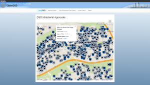 DSD Ministerial Approvals Map