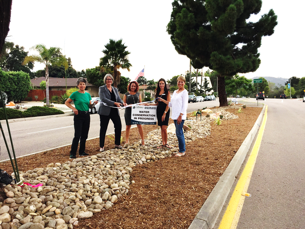 Median Beautification Ribbon Cutting
