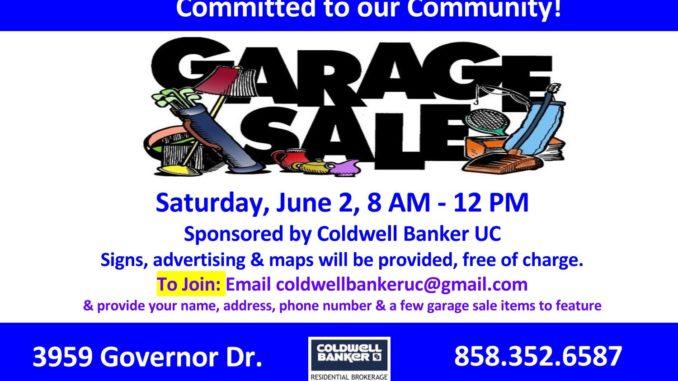 Neighborhood Garage Sale Is Saturday June 2 From 8 Am To 12 Noon