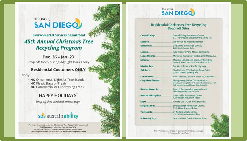 Wed, Jan 23: Last Day To Recycle Christmas Trees At