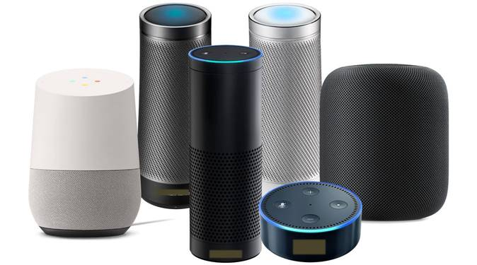 Amazon Alexa, Google Home, Microsoft Cortana