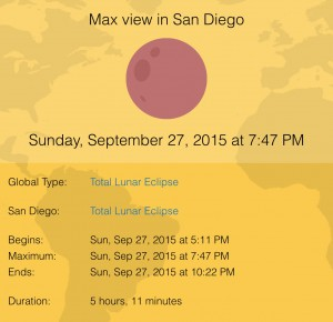 Eclipse Sep 27 2015